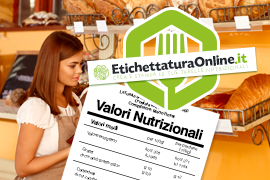 ETICHETTATURA E TABELLE NUTRIZIONALI ONLINE